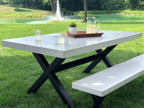 Concrete Picnic Table Plans With Benches