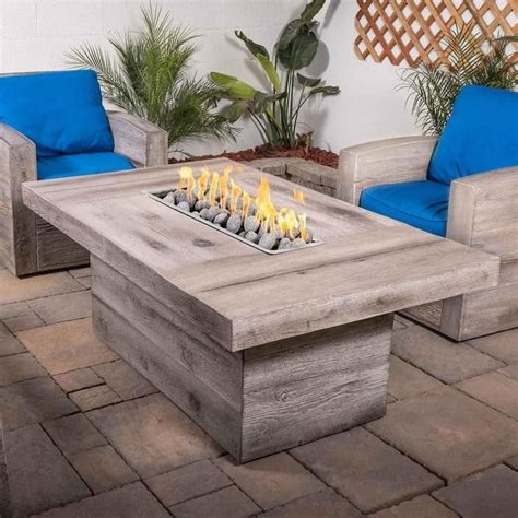 Concrete Table Wood Inlay Diy Fire