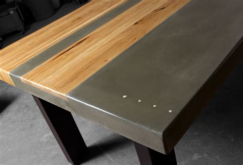 Concrete Table Wood Inlay Diy Halloween