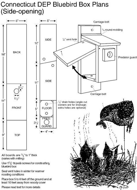 Connecticut Dep Bluebird Box Plans