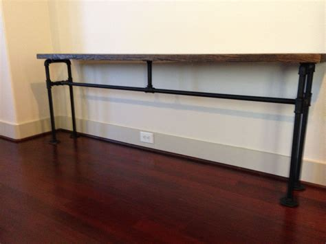 Console Table Diy Black Pipes