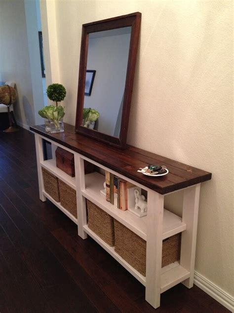 Console Table Entryway Diy Shelf