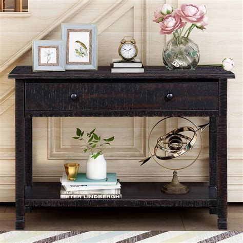 Console Table Wood Black Plans