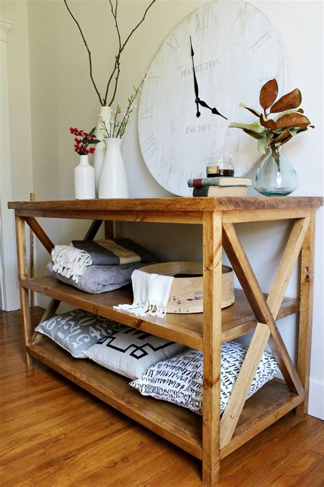 Console-Table-With-Shelf-Diy