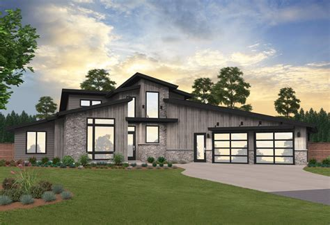 Contemporary House Plans 2 Story Garage Packages