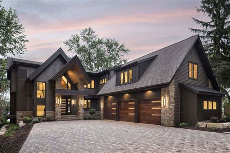 Contemporary Rustic Lake Home Plans