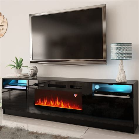 Contemporary Tv Stand Fireplace