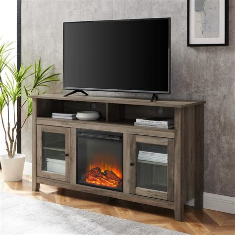 Contemporary-Tv-Stand-With-Fireplace-Diy