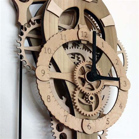 Contemporary-Wood-Gear-Clock-Plans