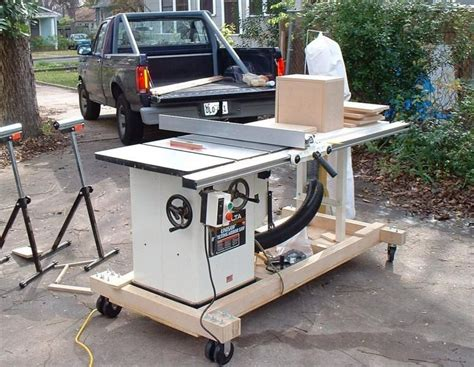 Contractor Table Saw Mobile Base Plans