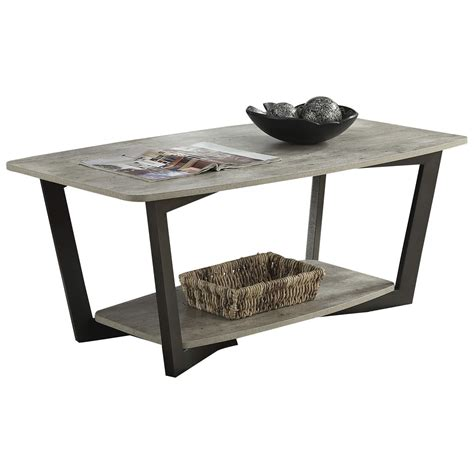 Convenience Concepts Graystone Metal Wood Coffee Table Plans
