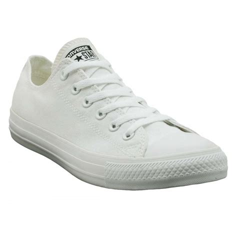 Converse All Star Ox Canvas White Monochrome Sneakers