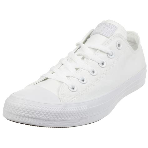 Converse All Star Ox Canvas White Monochrome Sneakers 1u647