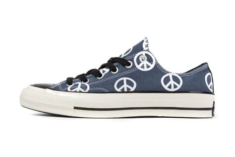 Converse All Star Peace Sign Out Sneakers
