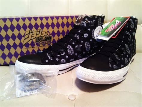 Converse All Star Sneakers Jojo's Bizarre Adventure Stone Mask Black