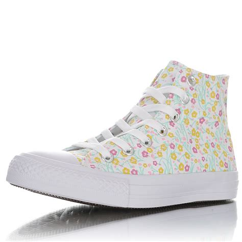 Converse All Star Womens Floral High-top Sneakers