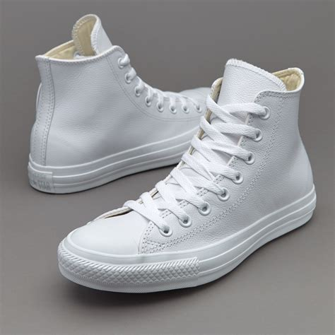 Converse Chuck Taylor All Star Hi Leather Mono Sneakers White