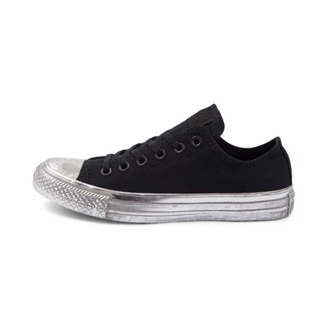Converse Chuck Taylor All Star Lo Distressed Metallic Midsole Sneaker