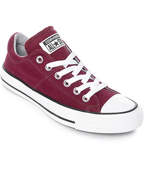 Converse Chuck Taylor All Star Madison Sneakers Burgundy White