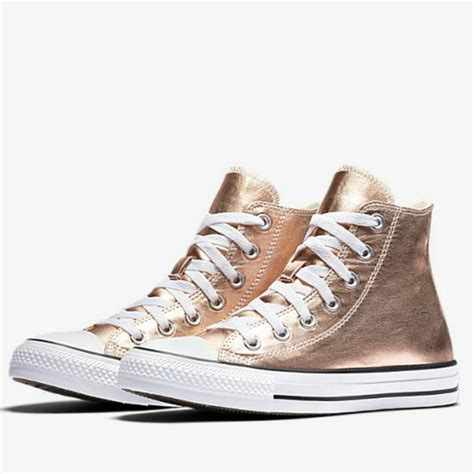 Converse Chuck Taylor Metallic Womens Sneakers Rose Gold