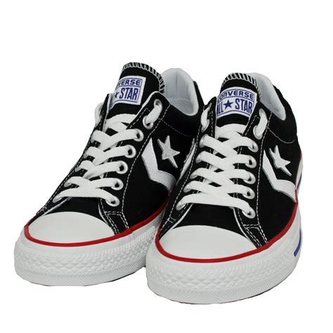 Converse Cons Star Player Sneakers Hoog White Black