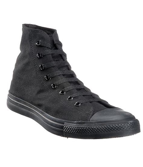 Converse Cool Black Unisex High Ankle Sneakers