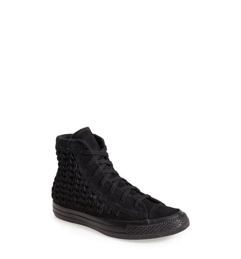 Converse High Top Sneakers Suede Woven