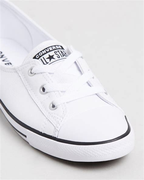 Converse Leather Slip On Ballet Sneakers