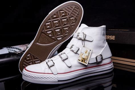 Converse Leather Sneakers Hi White With Double Buckles
