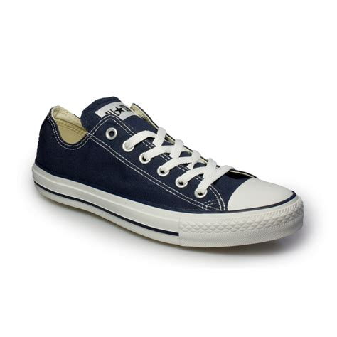 Converse Mens Navy Blue Canvas Sneakers