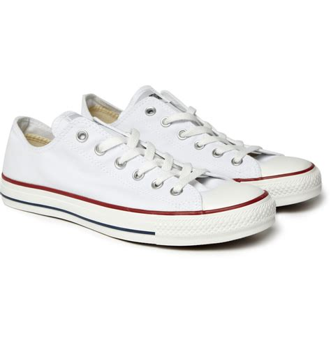 Converse Mens White Canvas Sneakers