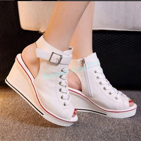 Converse Open Toe Wedge Sneakers