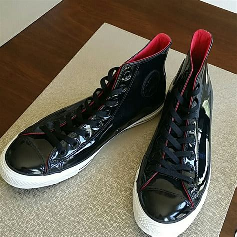 Converse Patent Leather Hi Top Sneakers