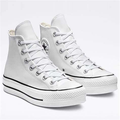 Converse Perforated Leather High Top Sneaker