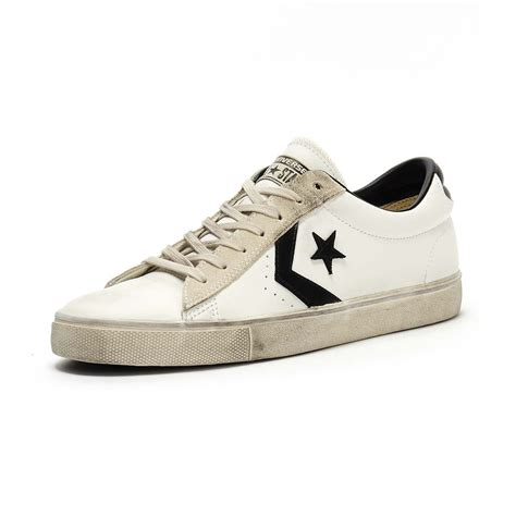 Converse Perforated Leather Ox Sneakers