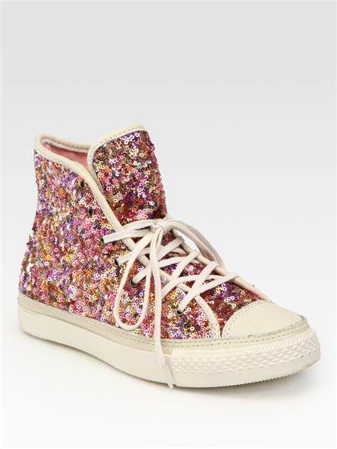 Converse Pink Sequin Sneakers