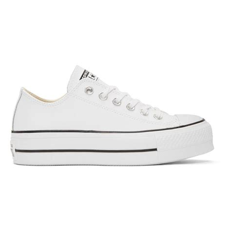 Converse Platform Leather Sneakers Star White