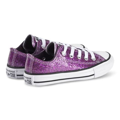 Converse Purple Sequin Sneakers