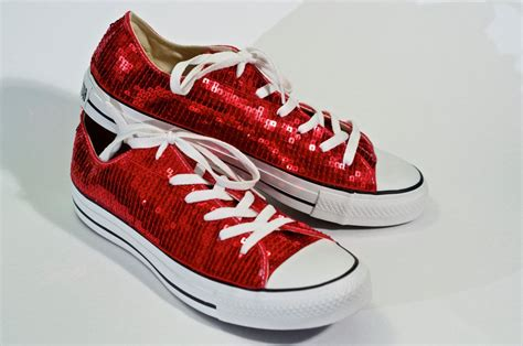 Converse Sequin Sneakers Red
