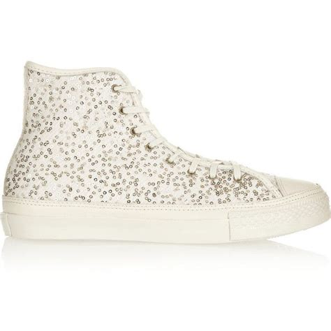 Converse Sequin Textured-wool Sneakers