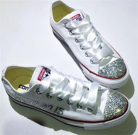 Converse Sneakers With Rhinestones