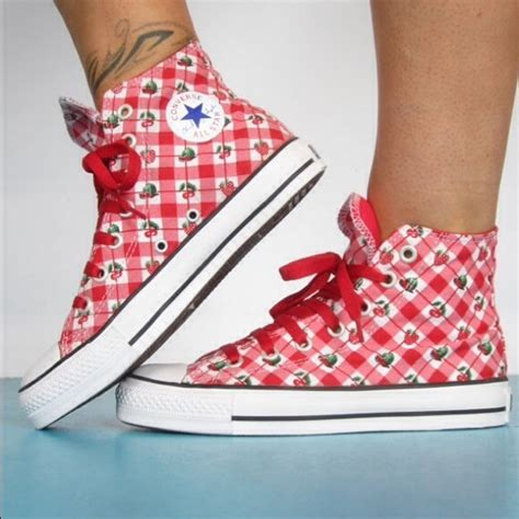 Converse Strawberry And Cherry Hi Top Sneakers