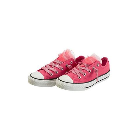 Converse Tulle Trim Sneakers