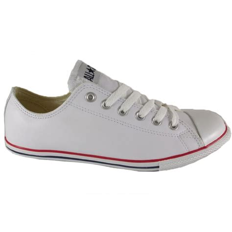 Converse Unisex White Leather Slim Ox Sneaker