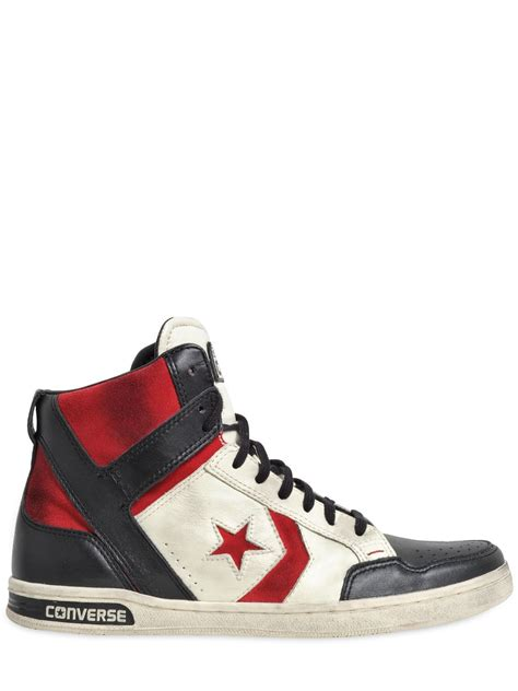 Converse Weapon Leather High Top Sneakers