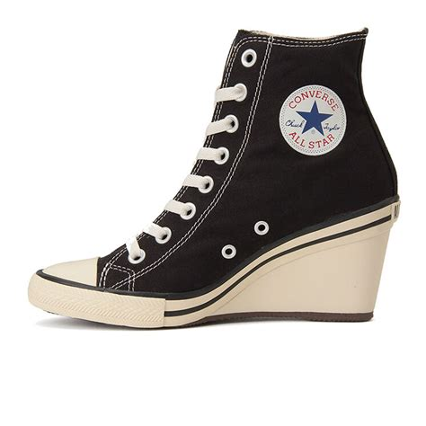 Converse Wedge Heel Sneakers Black