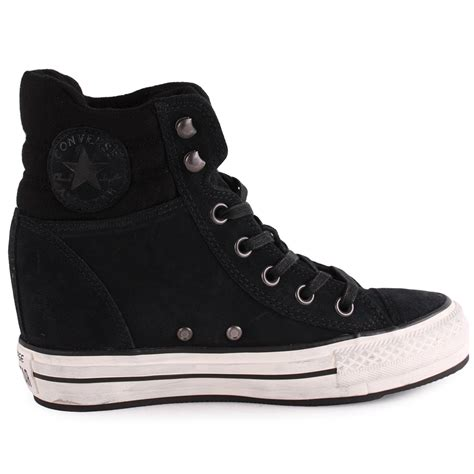 Converse Wedge Sneakers All Black