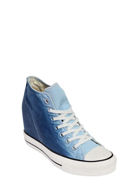 Converse Wedge Sneakers Blue