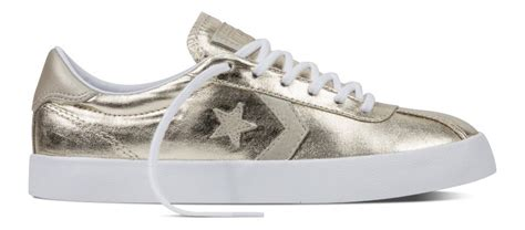 Converse Womens Breakpoint Metallic Canvas Low Top Sneaker