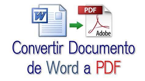 convertir de word a pdf online gratis espanol